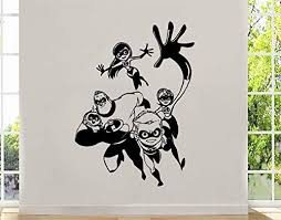 Amazon Com Art Cartoon The Incredibles Wall Decal The Parr Family Mr Incredible Vinyl Sticker Decor For Home Anyroom Design Ti6 22x31 Kitchen Dining