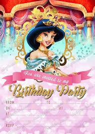 Invitaciones Para Fiesta De Cumpleanos De Princesa Disney Jasmin