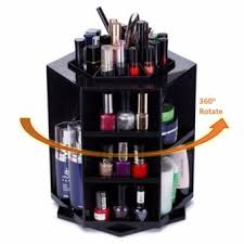 360 degree rotate makeup box organizer