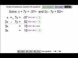 simultaneous linear systems of