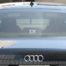 Sigma Nu Car Window Sticker Greek Accessories