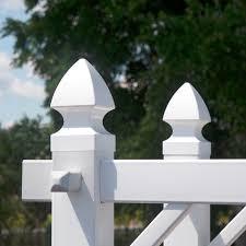 3 5 Sq Gothic Vinyl Post Cap Lmt1002 White Fence Supply Online