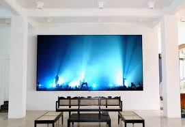before you a video projection screen