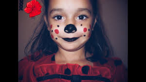 lady bug kids halloween makeup feat