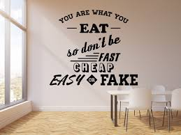 Vinyl Wall Decal Diet Healthy Lifestyle Motivational Quote Words Stick Wallstickers4you