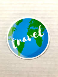 Travel The Globe 3x3in Vinyl Sticker For Your Laptop Water Etsy In 2020 Print Stickers Vinyl Sticker Stickers