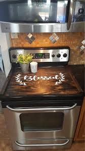 stove top cover custom wooden stove