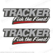 Tracker Boats Fish The Finest Decals Set Of 2