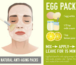 diy anti ageing egg white face mask to
