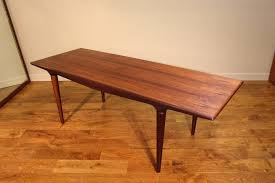 rosewood and teak coffee table