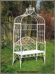 garden arch with seat 144