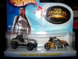 Lara Croft Tomb Raider Dbl Pack By Hot Wheels Scorchin Scooter W Jeep Mip Hot Wheels Jeep Lara Croft Tomb