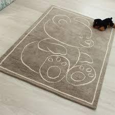 teddy bear rugs beige for children