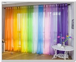 Multi Colored Sheer Curtains Home Curtains Curtain Designs Custom Made Curtains
