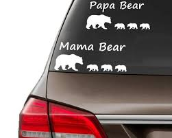 10 20cm Funny Car Sticker Cute Papa Mama Bear Baby Bear Car Sticker Car Decals Car Stickers Car Styling Accessories Geek