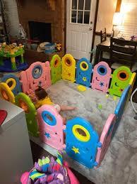 Costway 14 Panel Baby Playpen Kids Activity Center W Gate Indoor Outdoor Baby Fence Walmart Com Walmart Com