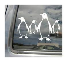 Penguin Family Of Four 4 Laptop Car Window Bumper Vinyl Decal Sticker 01280 Ebay