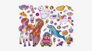 90 S Girl Lisa Frank Stickers Png Free Transparent Png Download Pngkey