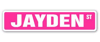 Jayden Street Sign Childrens Name Room Decal Indoor Outdoor Walmart Com Walmart Com
