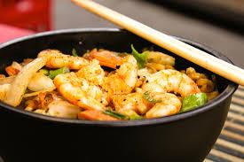 Shrimp Egg Roll Bowl over Cauliflower ...