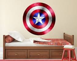 Captain America Shield Decal Avenger Wall Art Captain America Wall Decal Superhero Kids Decal Marv Boys Room Decals Avengers Wall Art Superhero Bedroom