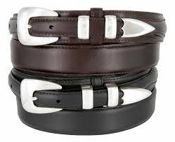 oil tanned leather western ranger belts