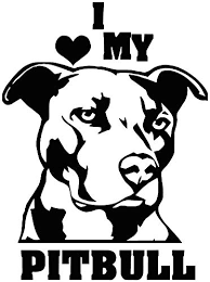 Love Pitbull Decal Sticker For Cars And Trucks Shefinds