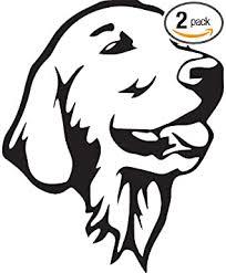 Amazon Com Angdest Labrador Retriever Stencil Drawing Black Set Of 2 Premium Waterproof Vinyl Decal Stickers For Laptop Phone Accessory Helmet Car Window Bumper Mug Tuber Cup Door Wall Decoration Automotive