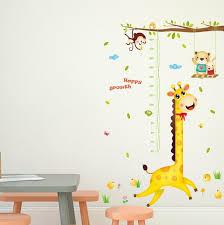 Happy Growth Giraffe Wall Sticker Removable Art Home Decor Decal Mural Kids Room Walmart Com Walmart Com