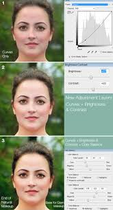 realistic makeup application in photo