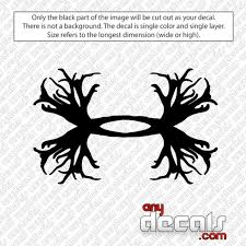 Car Decals Car Stickers Under Armour Antler Car Decal Anydecals Com