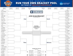 Printable 2019 NCAA tournament bracket ...