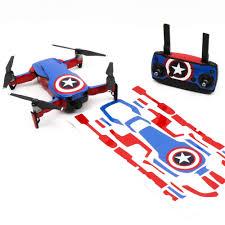 Wrap Skin Decal Stickers Captain America Dji Mavic Air Drone Accessories Australia