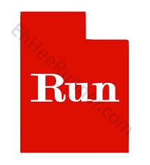 Run Utah Sticker Car Window Pc Decal Choice Of Color Free Shipping