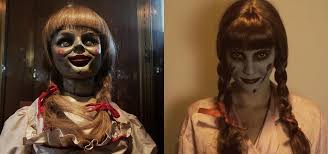 this diy annabelle doll costume from