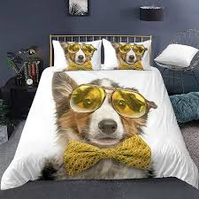 funny puppy dog pattern bedding set for