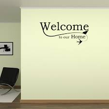 Welcome To Our Home Wall Decal Welcome Decal Foyer Wall Sticker Home Decor Sticker Decor Wall Art Walmart Com Walmart Com