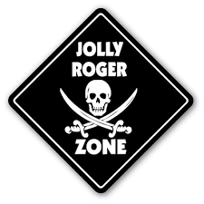 Jolly Roger Zone 3 Pack Of Vinyl Decal Stickers Indoor Outdoor Funny Decoration For Laptop Car Garage Bedroom Offices Signmission Walmart Com Walmart Com