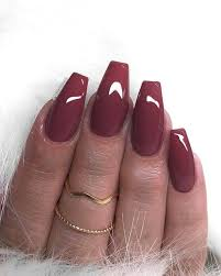 50 sultry burgundy nail ideas to bring