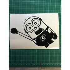 Minion Black Sticker Decal Despicable Me Kids Animated Car Jdm 4x4 Fam Street Fx Motorsport Graphics