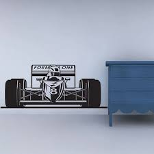 Formula 1 Sports Race Car Racing Wall Decal Vinyl Poster Decor Sticker Wall Art Mural Racing Decal Racing Decor Race Car Decal F Decorative Stickers Sticker Wallwall Art Aliexpress