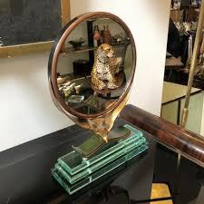 verde nilo glass table mirror