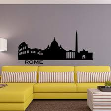 Rome Skyline Wall Decal City Silhouette Italy Rome Wall Decals Etsy