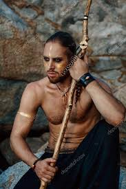 tribal warrior young attractive man