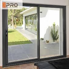 big size black aluminum sliding doors