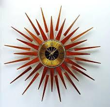 retro starburst wall clock uk pluto