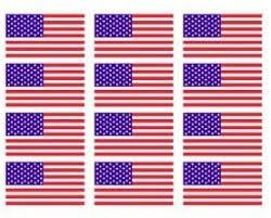 Amazon Com 12 X American Flag 2 Helmet Usa Vinyl Sticker Decal Automotive