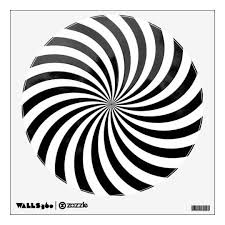 Spiral Optical Illusion Wall Decal Zazzle Com