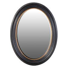 mirrors large black gold oval mirror