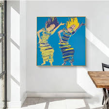 Pop Art Dancing Girl By Andy Warhol Wall Gallery Gallery Wallrus Free Worldwide Shipping